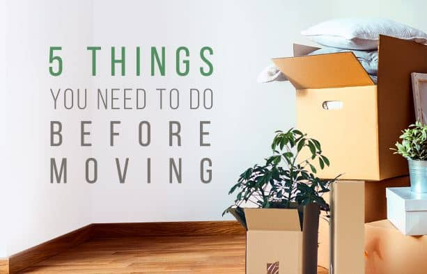 what to do before moving house